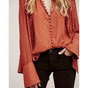 Free People Belted Button Up Oversized Tunic Sz S